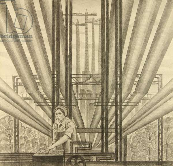 Tubes, 1968 (pencil on paper)