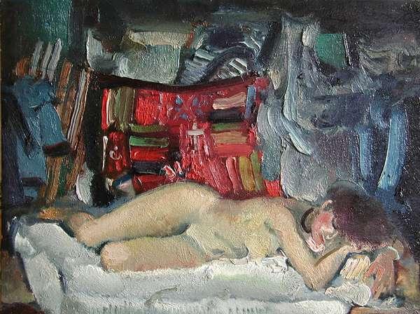 Dream, 1972 (oil on card)