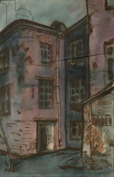 Lesnaya Street, Moscow, c.1960 (tempera on paper)
