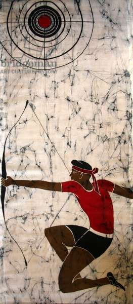 Archer, 2011 (hot batik on textile)