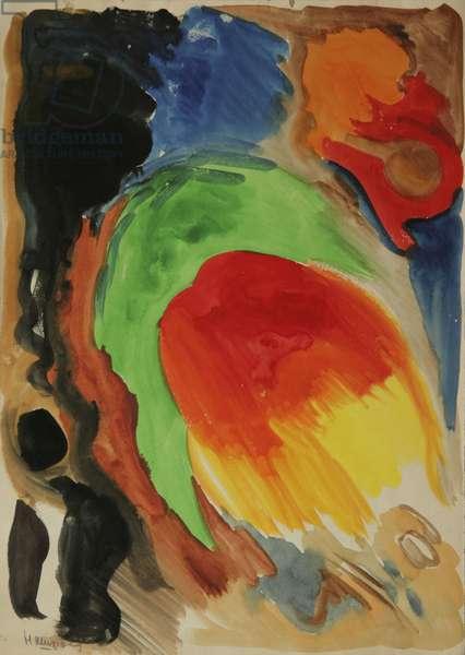 Colour composition, 1965 (tempera on paper)