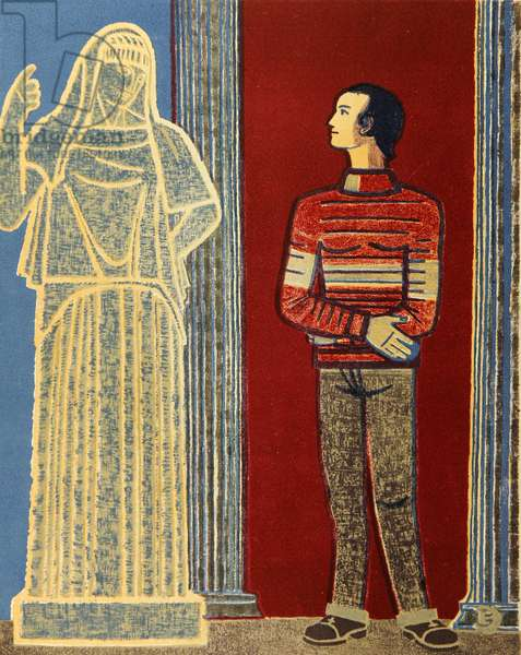 A Conversation with the Goddess of the Family Hearth, 1984 (colour litho)