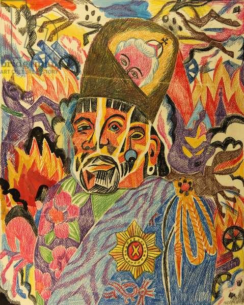Yemelyan Pugachyov, 1981 (pastel on paper)