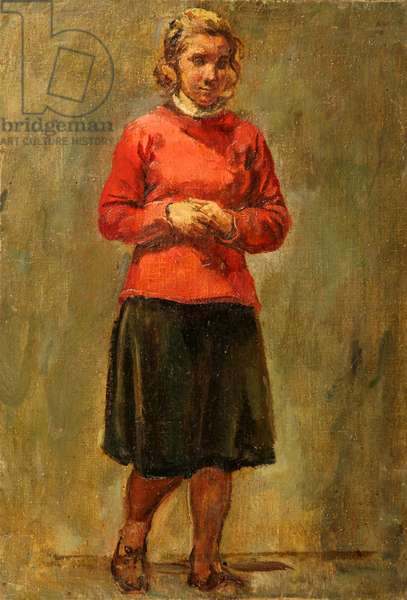 Portrait of Young Girl, 1952 (oil on canvas)