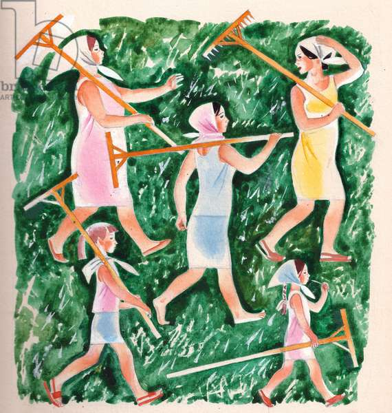 Illustration from 'Hot Nail' by Anatoly Mityaev, 1975 (gouache on paper)