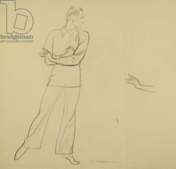 Yury Grigorovich, 1972 (pencil on paper)