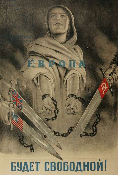 Europe Will Be Free!, 1944 (colour litho)