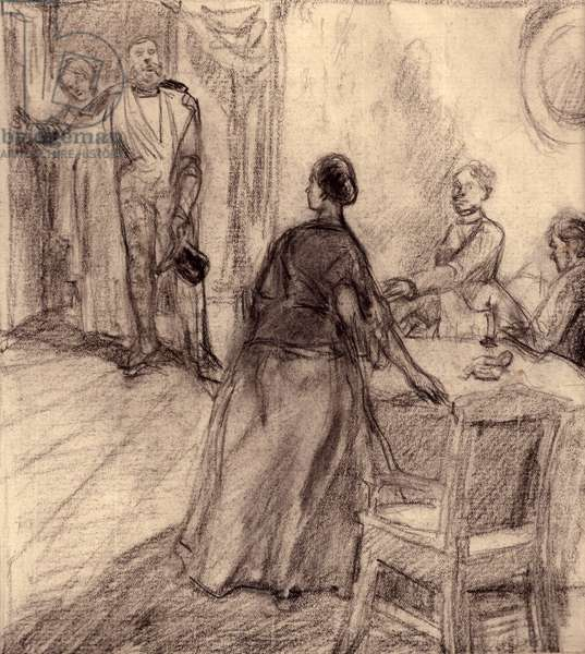 "Illustration to Fyodor Dostoyevsky's novel ""Humiliated and Insulted"" (1861), 1949 (pastel on paper)"