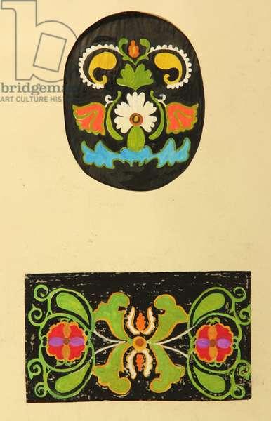 Textile Designs, 1964 (tempera on paper)