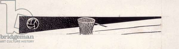 Basketball (Indian ink on paper)
