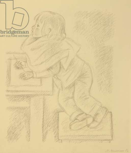 Child Drawing, 1983 (pencil on paper)