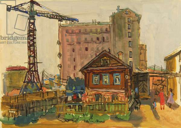 Old And New, 1970 (tempera on paper)