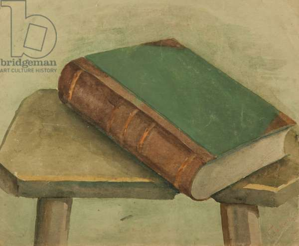 Book on Stool, 1920s (w/c on paper)