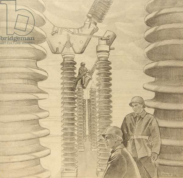 Electrical, 1971 (pencil on paper)