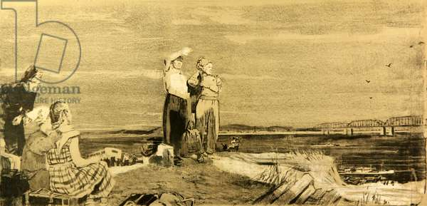 Komsomols in Siberia, 1959 (litho)