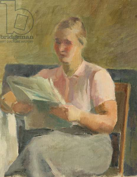 Woman Reading, 1946 (oil on canvas)