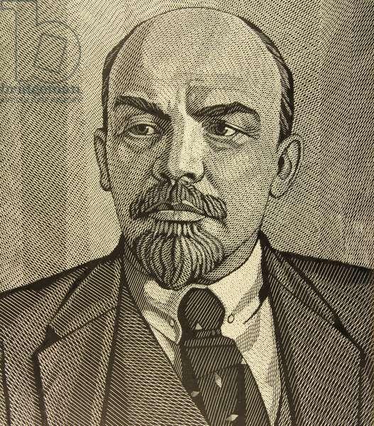 V.I. Lenin, 1970 (linocut)