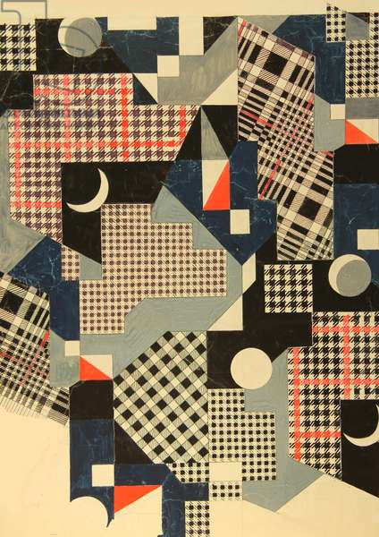 Textile design, 1974 (gouache on paper)