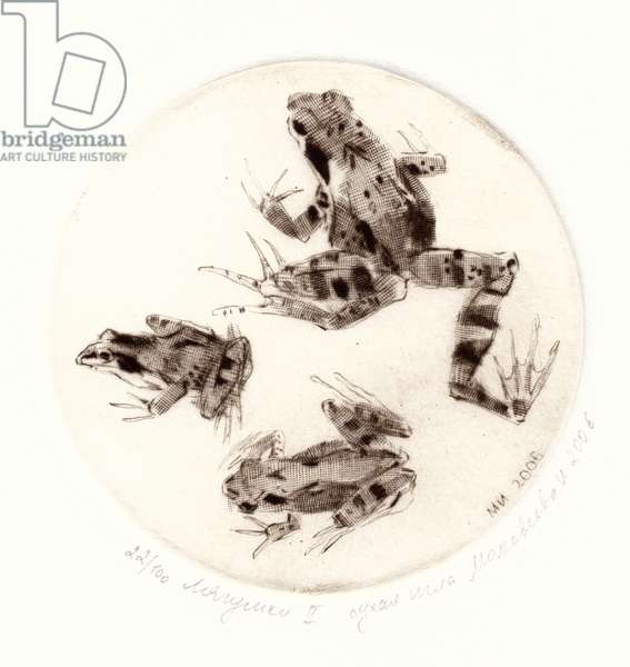 Frogs, 2006 (drypoint)