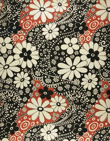 Textile design, 1971 (tempera on paper)