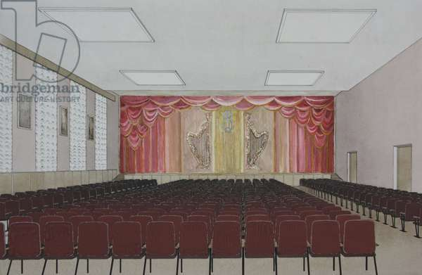 Sketch for a Stage Curtain, c.1970 (collage with gouache on card)