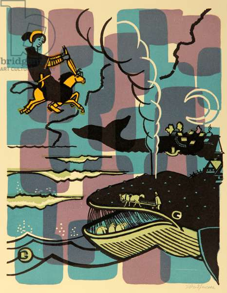 The Monster and the Whale, 1976 (colour litho)