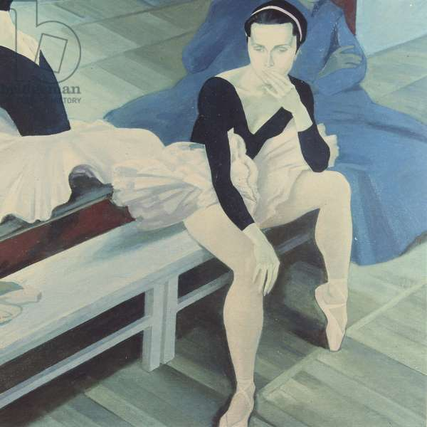 A Rest During Rehearsals, 2002 (oil on canvas)
