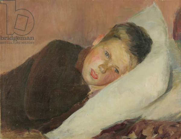Portrait of a Boy in Bed, 1930 (oil on canvas)