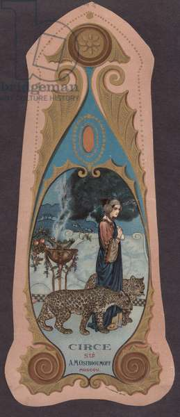 """""""Circe"""" Perfume, from A.M. Ostroumov, Moscow, 1900s (colour litho)"""