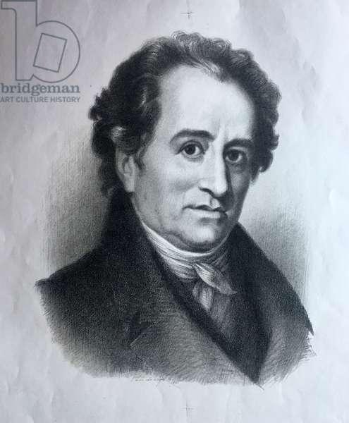 Portrait of Johann Goethe, 1948 (litho)