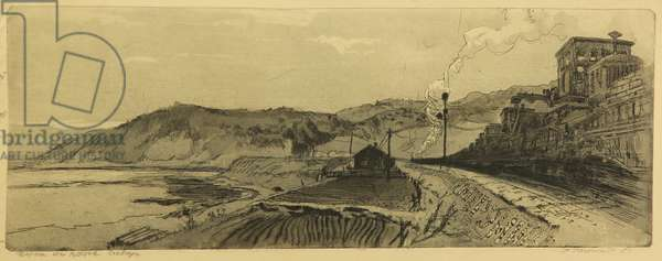 The Road Towards the East, Siberia, 1951 (etching)