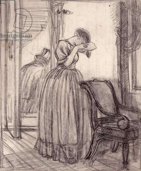 "Illustration to Fyodor Dostoyevsky's novel ""Humiliated and Insulted"" (1861), 1949 (pencil on paper)"