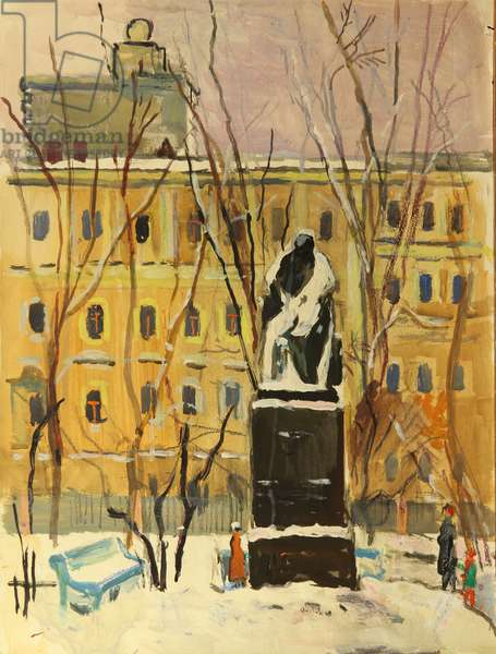Gogol In Exile, 1980 (tempera on paper)