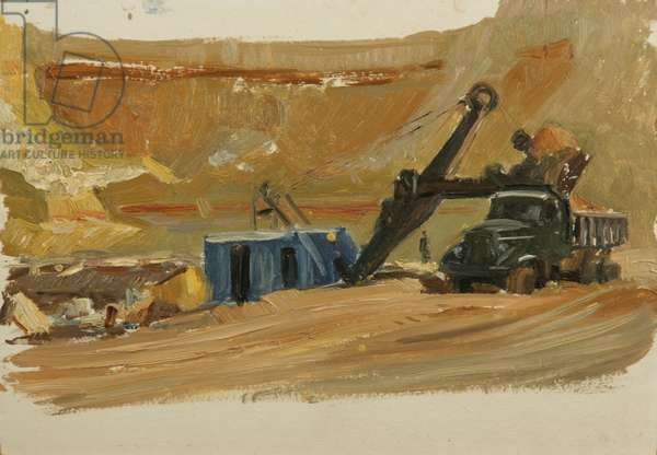 Quarry, 1950s (oil on card)