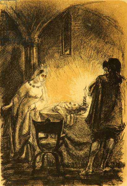 Illustration to Die häßliche Herzogin Margarete Maultasch (The Ugly Duchess) by Lion Feuchtwanger (1923), 1948 (litho)