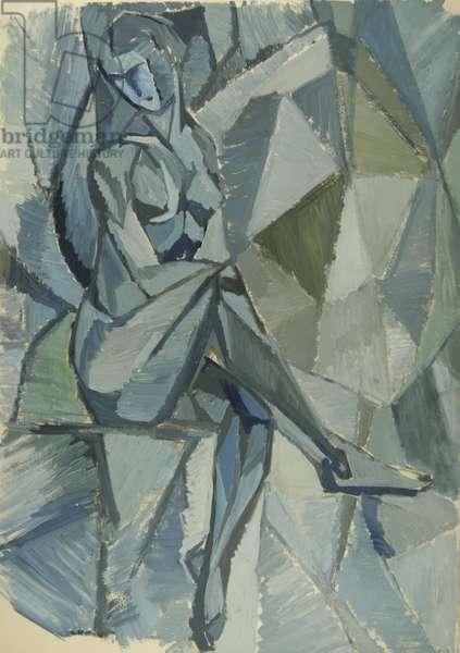 Nude, 1959 (tempera on paper)