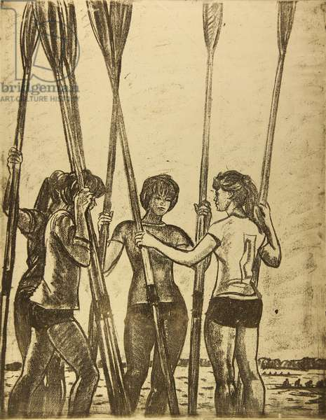 Rowers, 1961 (etching)