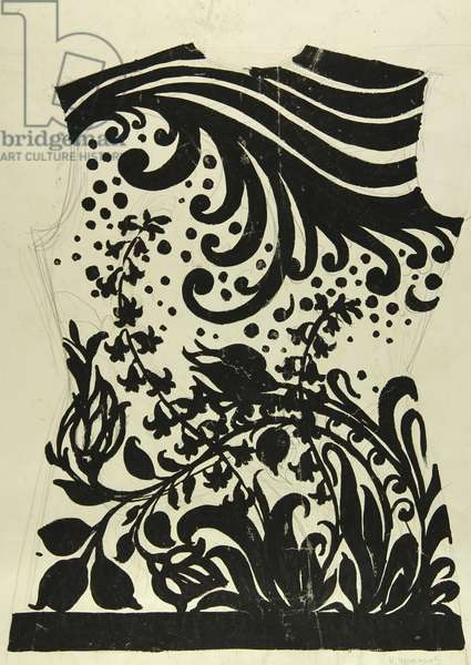 Dress Design, 1960s (tempera on paper)