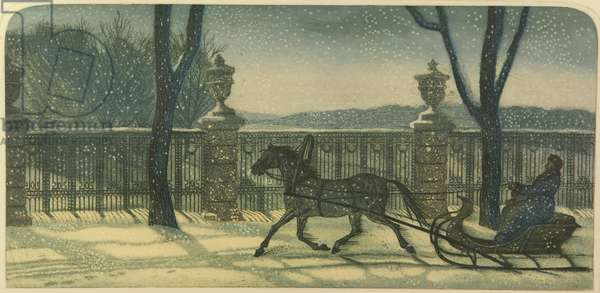 Russian Winter, 2009 (colour etching on paper)