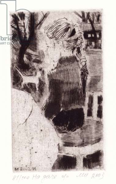 At the Dacha, 2003 (drypoint)