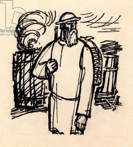"Illustration from ""Elnet"", Sergey Chavain, 1936, 1972 (gouache on paper)"