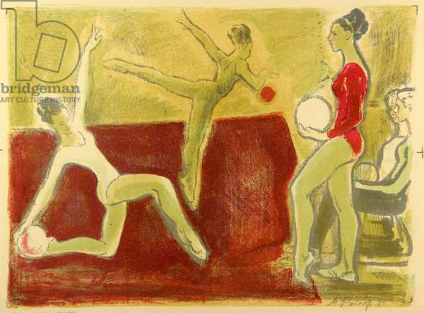 Exercise with Ball, 1980 (colour litho)