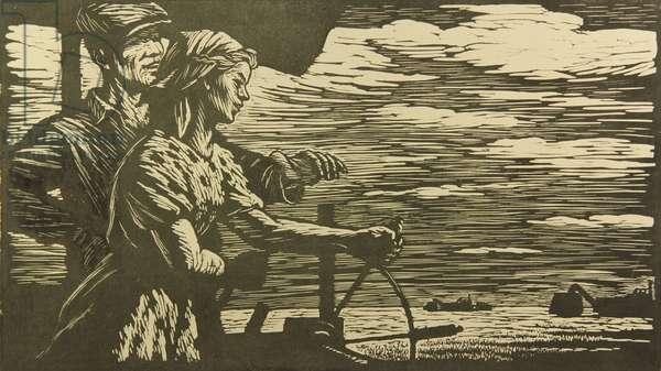 Apprentice, 1957 (linocut)