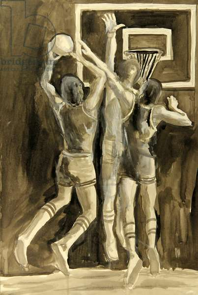 Basketball, 1978 (w/c on paper)