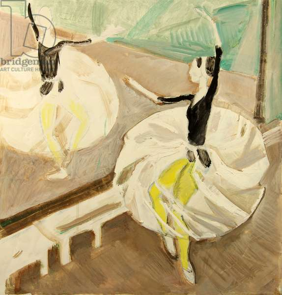 Ballerina by the Mirror, 1974 (gouache on paper)