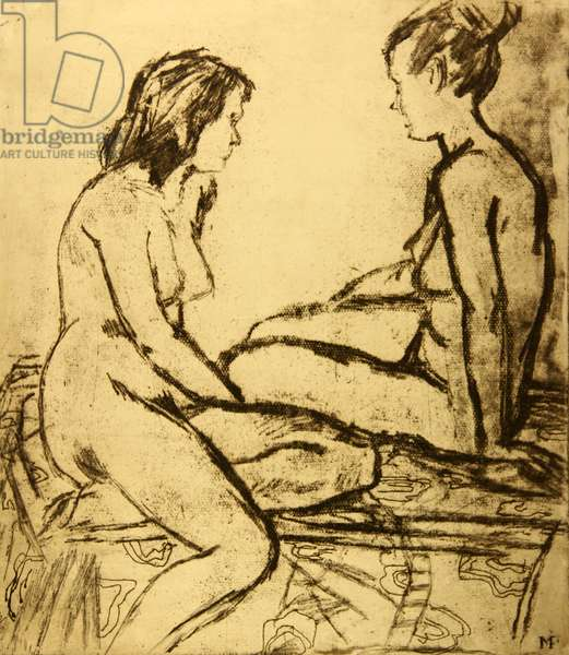 Two Nudes, 1964 (etching)