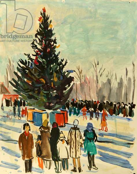Christmas Tree, 1960 (tempera on paper)