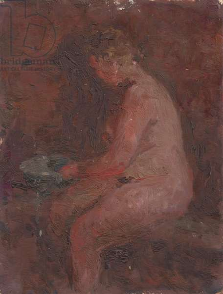 In the Banya, 1941 (oil on card)