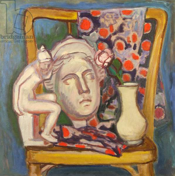 Mask on Chair, 1995 (oil on hardboard)