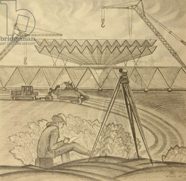 Land Surveying, 1980 (pencil on paper)